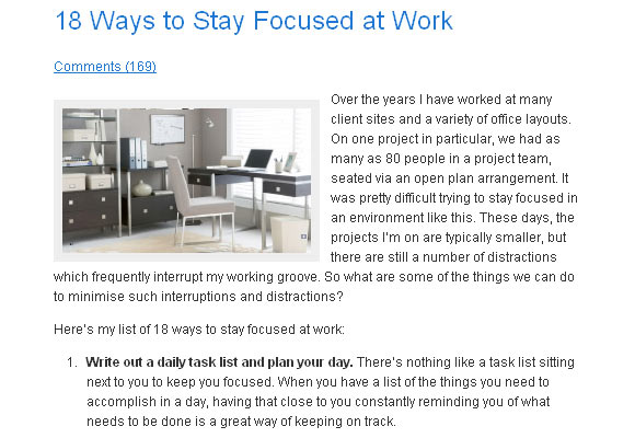 18 Ways to Stay Focused at Work