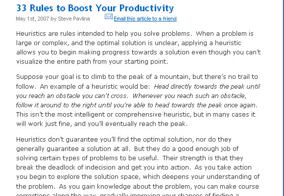 33 Rules to Boost Your Productivity