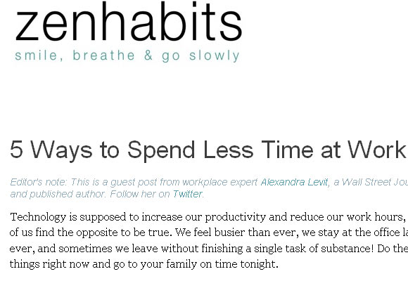 5 ways to Spend Less time at Work