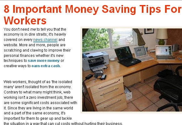 8 Important Money Saving Tips for Web