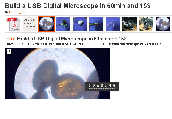 Build a USB Digital Microscope