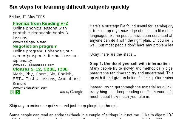 Six Steps for Learning Difficult Subjects Quickly