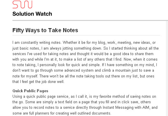 Fifty Ways to Take Notes