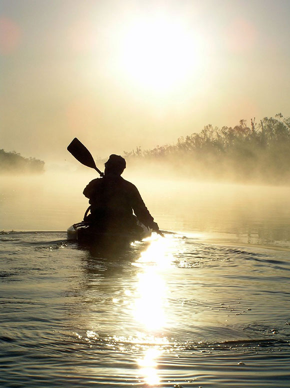 Sunrise Paddling on The North Canadian River