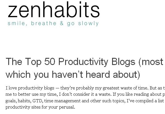 The Top 50 Productivity Blogs Most of Which You Haven't Heard About