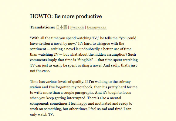 Weblog/productivity