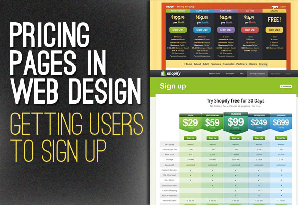 Pricing Pages in Web Design: Getting Users to Sign Up