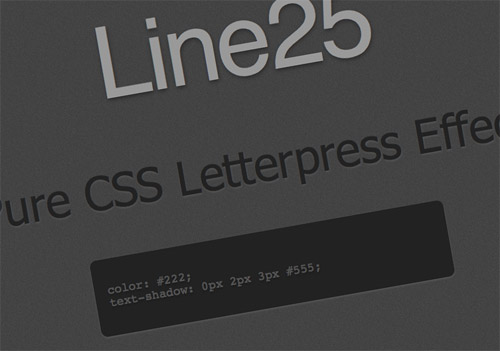 Create a Letterpress Effect with CSS Text Shadow