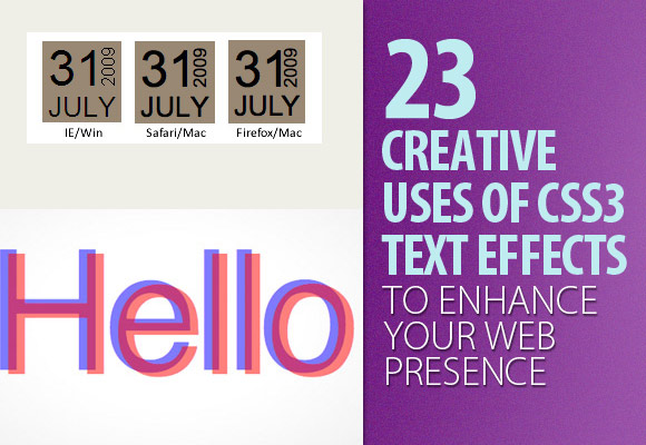 23 Creative Uses of CSS3 Text Effects to Enhance Your Web Presence