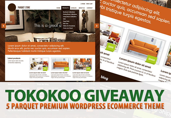 Tokokoo Giveaway: 5 x Parquet Premium WordPress eCommerce Themes