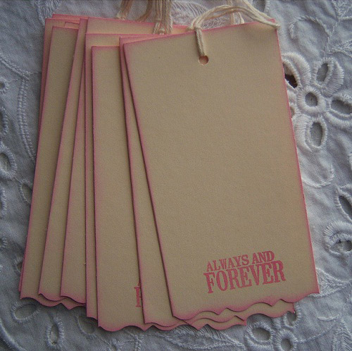 Always and Forever Pink and Cream Hang Tags
