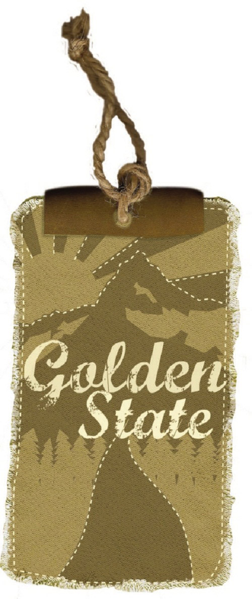 Golden State Hang tag