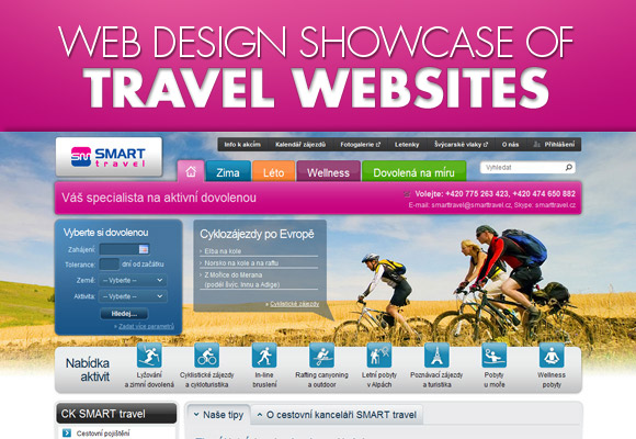 Web Design Showcase Of Travel Websites