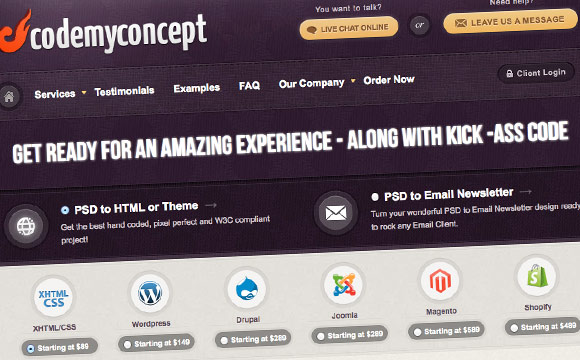 CodeMyConcept Giveaway: 2 Lucky People Wins PSD to HTML Service