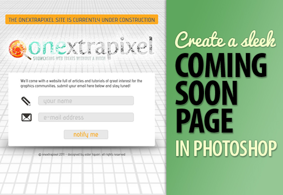 Create a Sleek Coming Soon Page in Photoshop