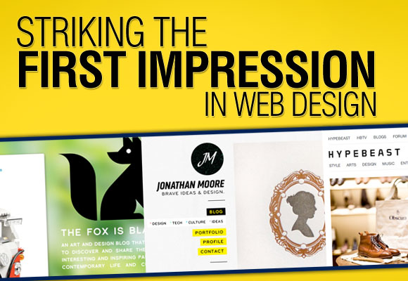 Striking the First Impression in Web Design