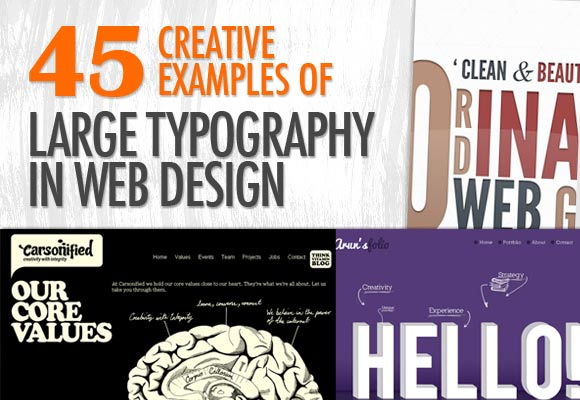 45 Creative Examples of Large Typography In Web design