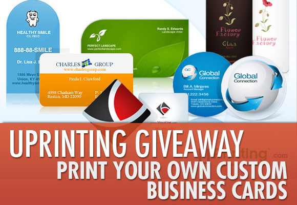 UPrinting Giveaway: Print Your Own Custom Business Cards