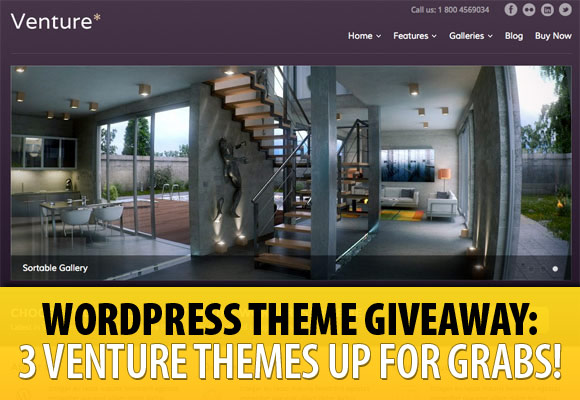WordPress Theme Giveaway: 3 Venture Themes Up for Grabs!
