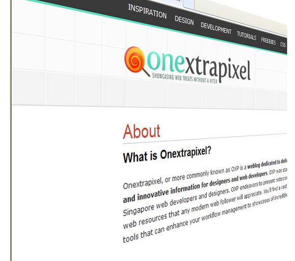 Onextrapixel About Us Page