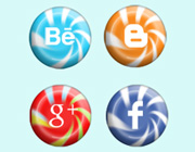 Freebies: Candy Social Media Icons