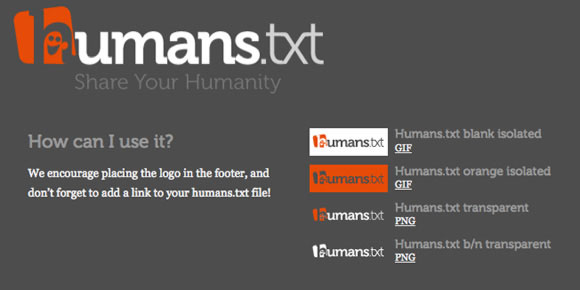 Humans.txt Badges