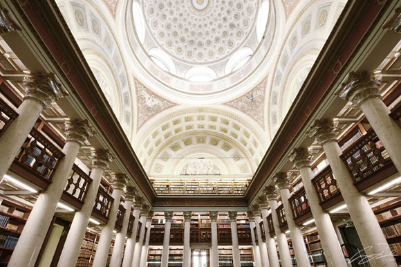 Architecture in Helsinki (interior of the National Library of Finland) by timeisatraveller