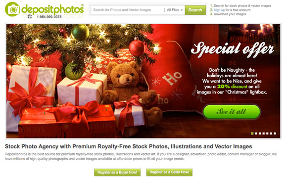 Stock Photo Giveaway: 5x $50 Credit from Depositphotos