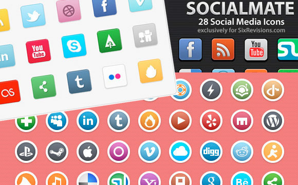 Ultimate Collection of Fresh Social Media Icon Sets