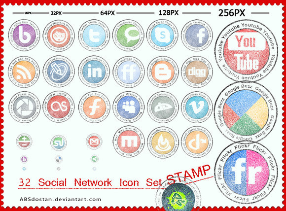 Free Stamp Social Network Icon