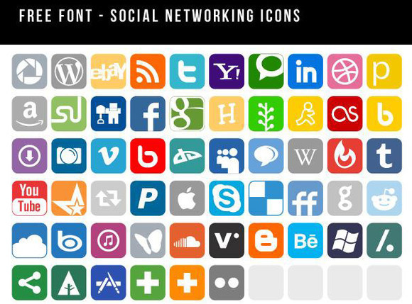 Social Networking Icons font
