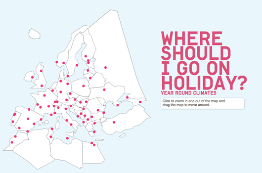 Where Should I Go on Holiday Infographic