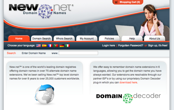 Alternative domain extension supplier
