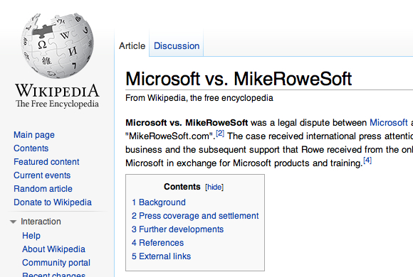 """Mike Rowe Soft"" site"
