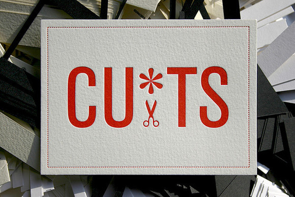 CUTS Letterpress Postcard