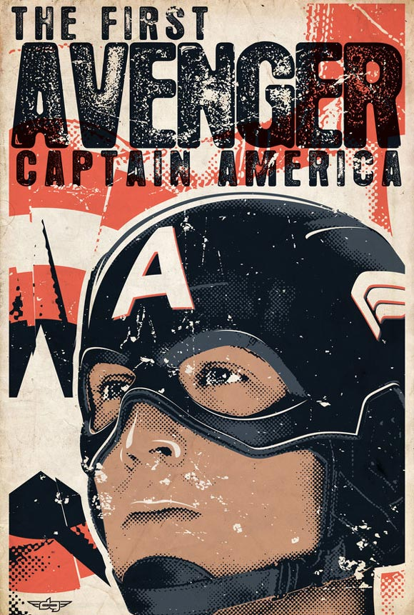 Captain America Retro Poster
