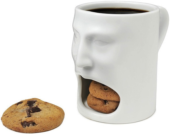 Face Mug with Cookie Cubbie