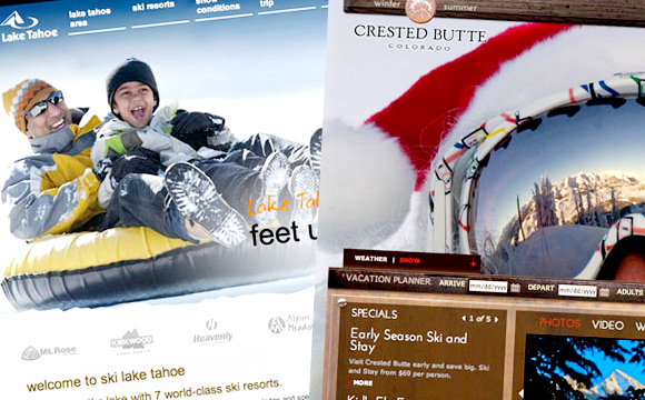 30 Gorgeous and Stunning Ski Resort Websites