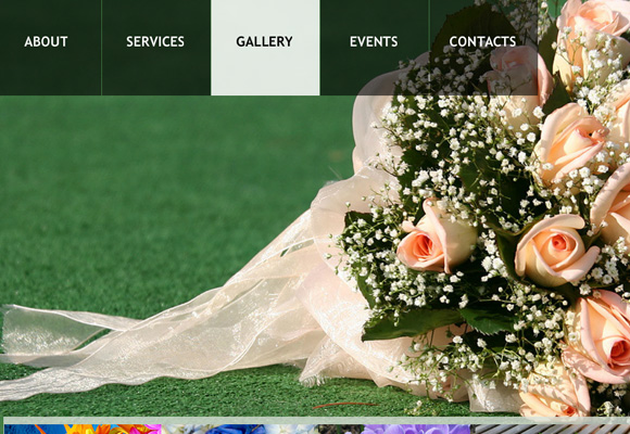 Floral Photo Gallery with Scrolling Preview