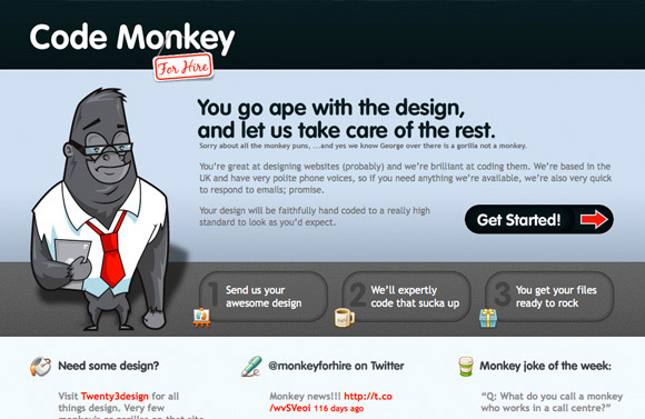 Code Monkey for Hire