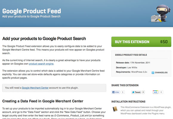 Google Product Feed