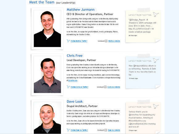 meet the team page examples