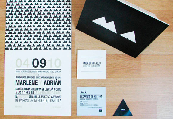 Triangle Wedding Invitation
