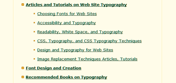WebsiteTips's Typography Tutorials