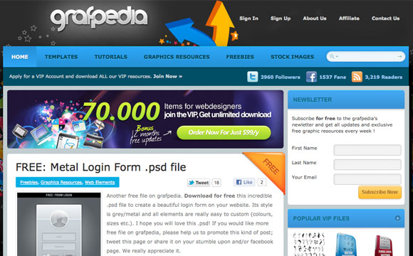 Grafpedia Resources Giveaway: 5 VIP Accounts Up for Grabs