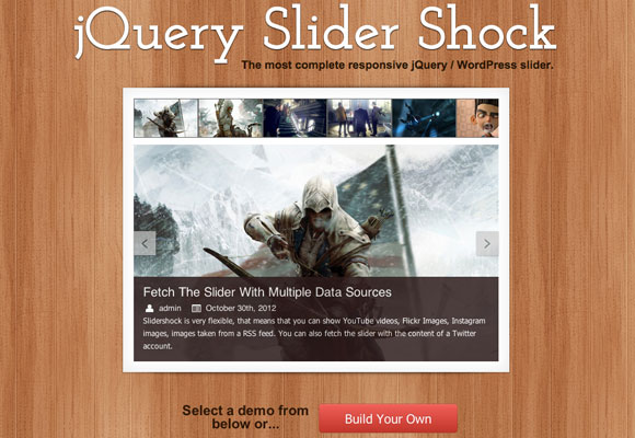jQuery Slider Shock