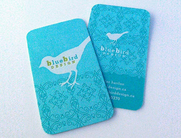 Blue Bird Design Card