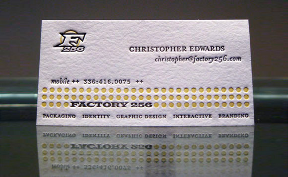 Letterpress Business Card F256