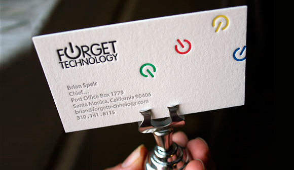 6 Color Letterpress Business Cards