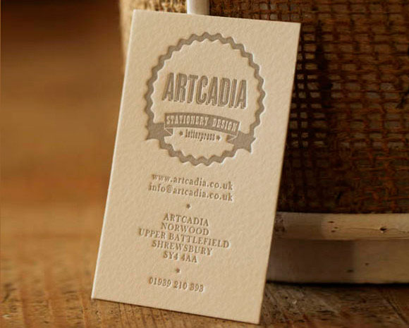 Letterpress Cotton Business Card